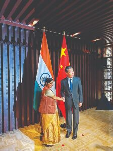 Swaraj raises Pulwama  attack with Chinese Foreign Minister